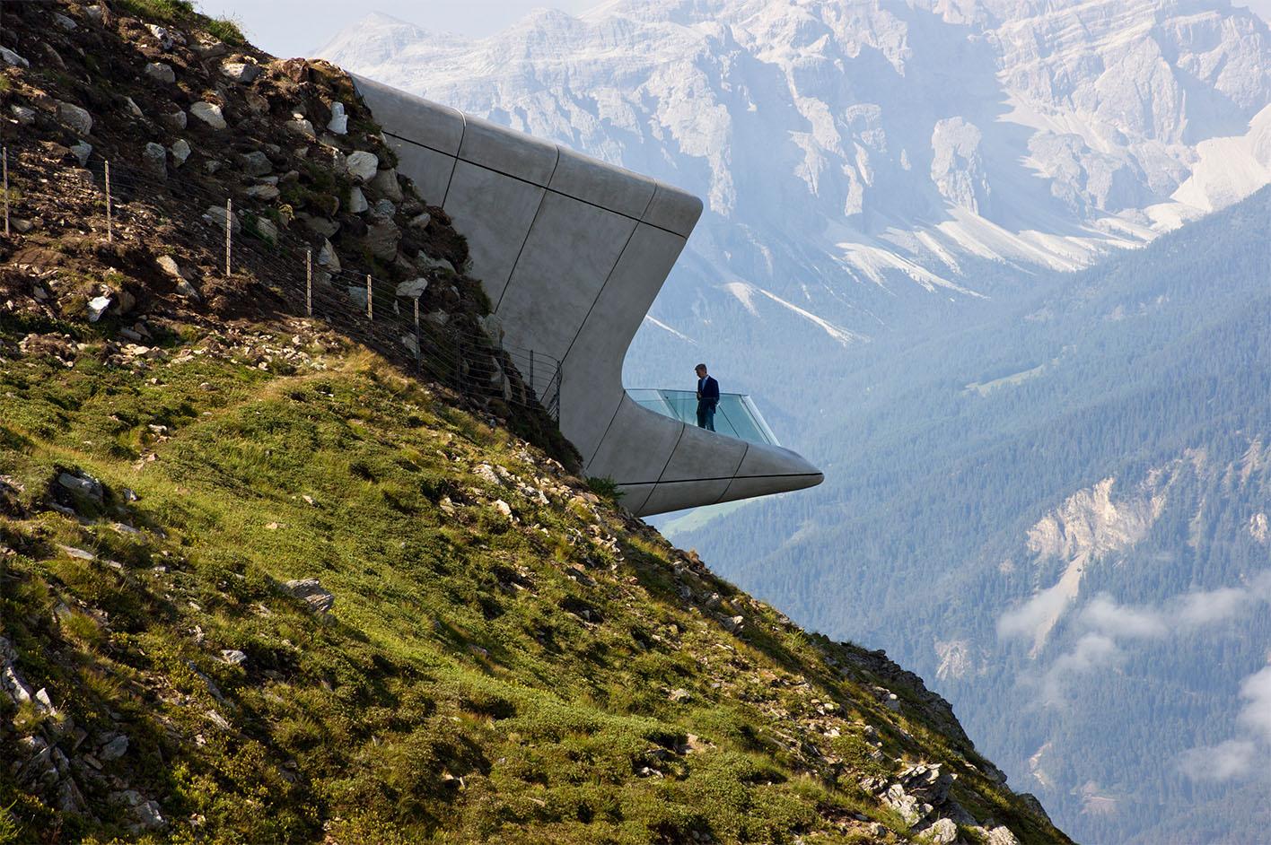 Zaha Hadid mountain museum Italy