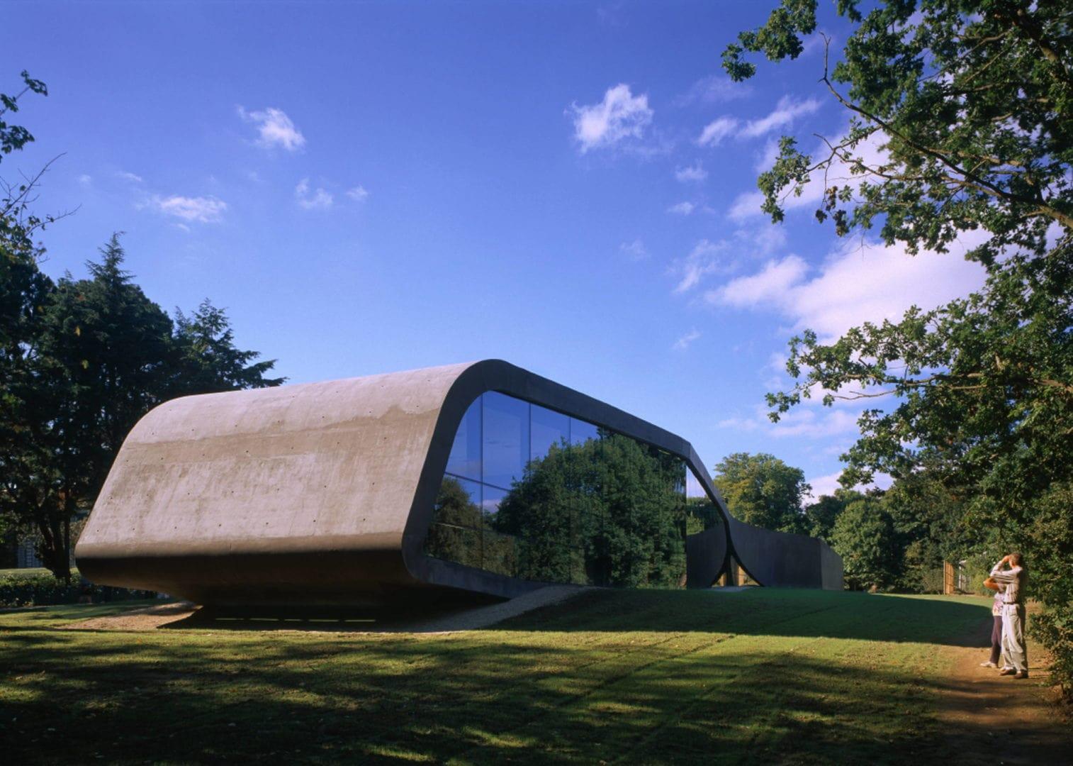Zaha Hadid building Ordrupgaard museum Denmark